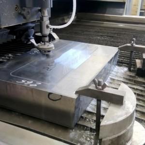 """Гидроабразивная резка заготовки из титана, толщиной 130 мм, заказ выполнялся для ООО """"ИНКОН"""""""